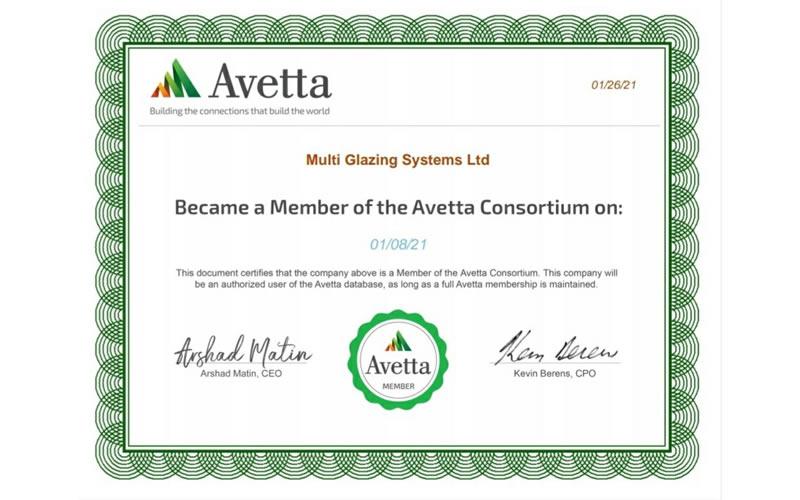 Avetta Certificate