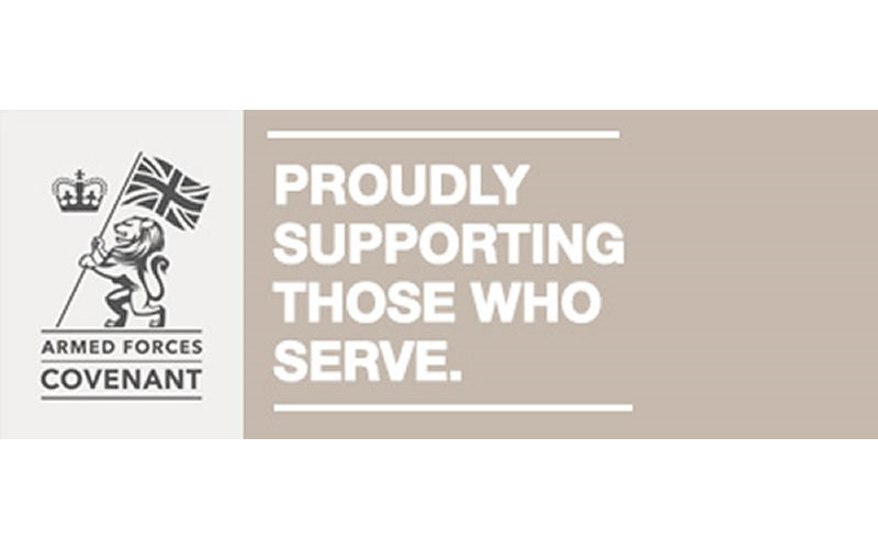 Proud to support the Armed Forces
