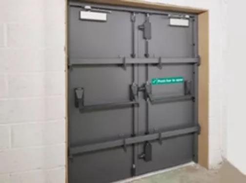 Attack resistant steel door installation