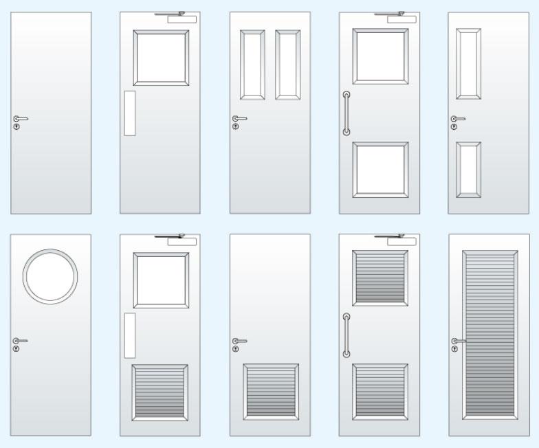 Common personnel single steel door types