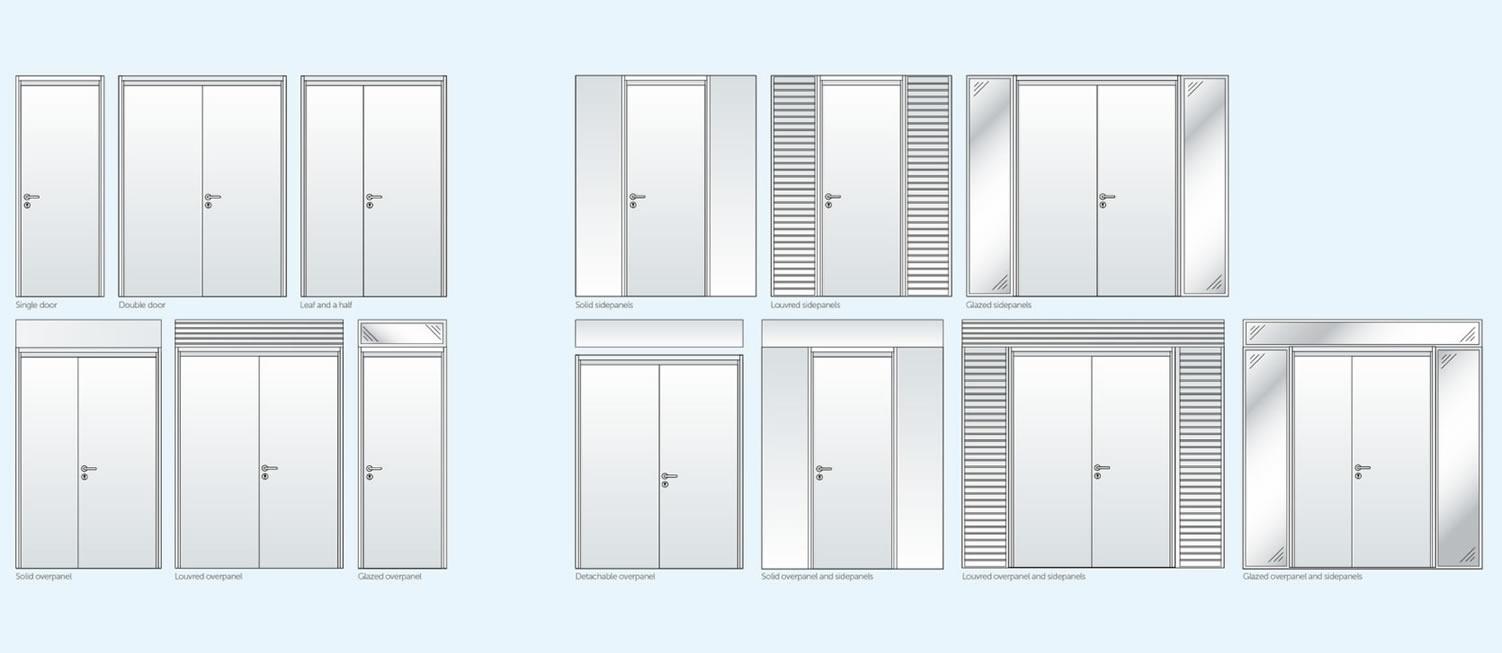 Common steel door installations