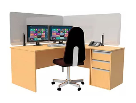 Desk screen for covid protection