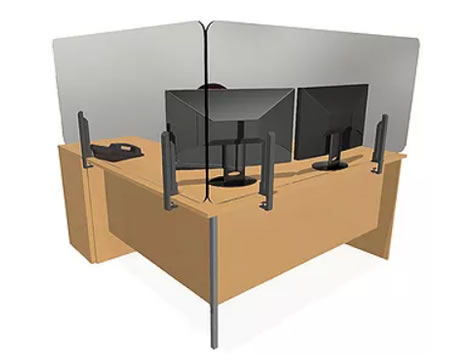 Desk screen for covid and hygenie protection