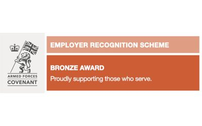 MGS Awarded Defence Employer Recognition Scheme Bronze Award