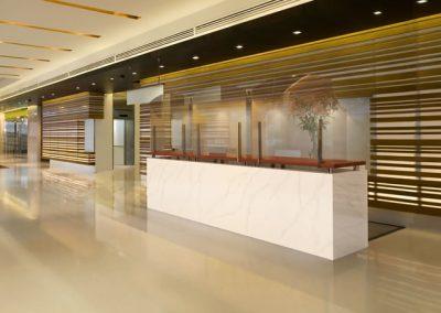 Hotel reception covid-19 screen