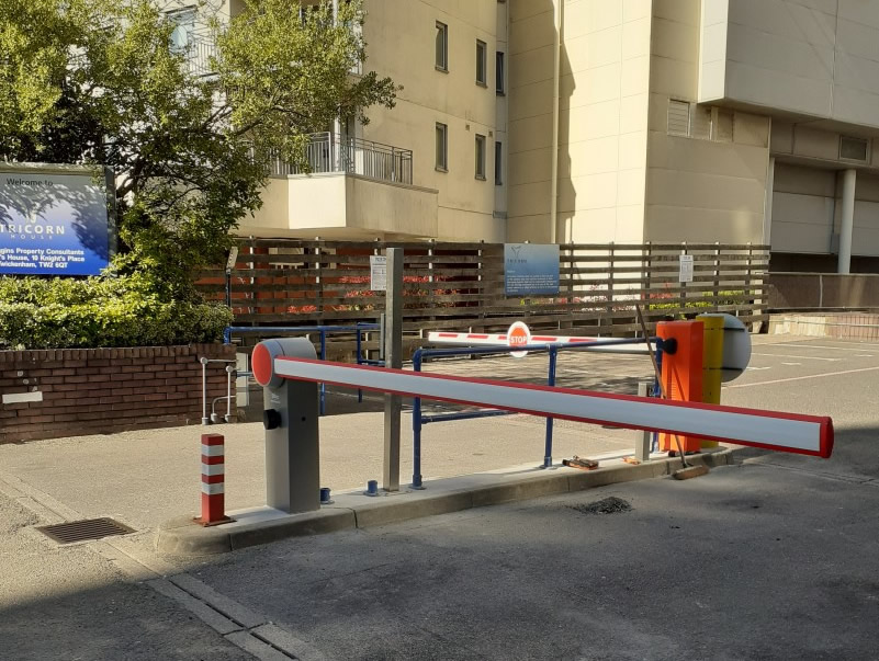 Automatic barrier installation