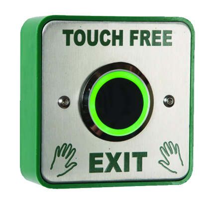 Touch free commercial door switch pad opener