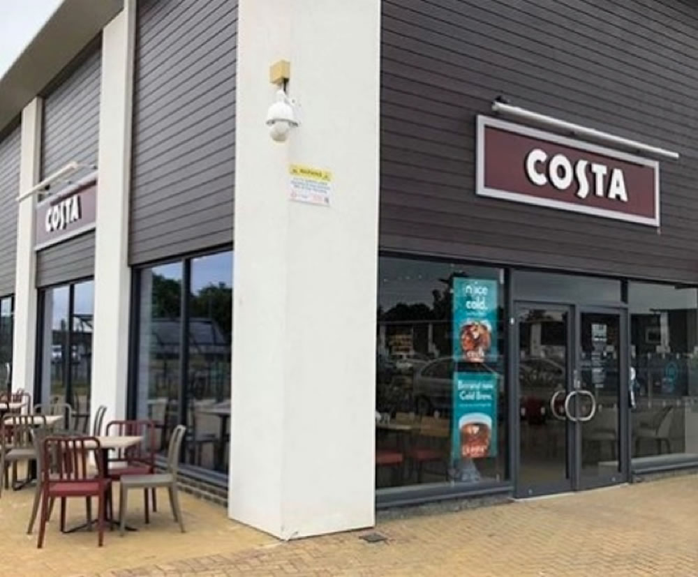 Costa Coffee aluminium door installation